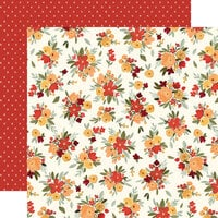 Carta Bella Paper - Hello Autumn Collection - 12 x 12 Double Sided Paper - Fall Floral
