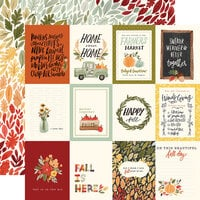 Carta Bella Paper - Hello Autumn Collection - 12 x 12 Double Sided Paper - 3 x 4 Journaling Cards