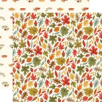 Carta Bella Paper - Hello Autumn Collection - 12 x 12 Double Sided Paper - Leaves
