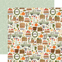 Carta Bella Paper - Hello Autumn Collection - 12 x 12 Double Sided Paper - Fall Harvest