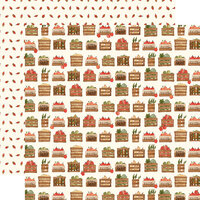 Carta Bella Paper - Hello Autumn Collection - 12 x 12 Double Sided Paper - Harvest Crates