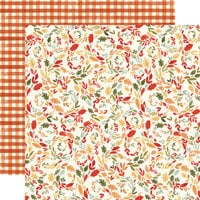 Carta Bella Paper - Hello Autumn Collection - 12 x 12 Double Sided Paper - Swirly Leaves
