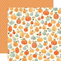 Carta Bella Paper - Hello Autumn Collection - 12 x 12 Double Sided Paper - Pumpkins