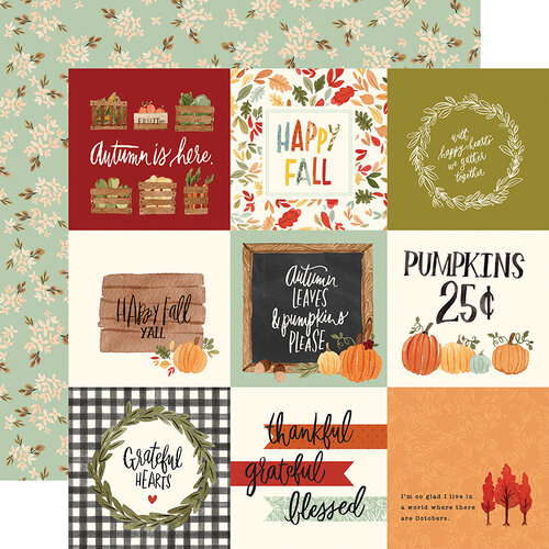Carta Bella Paper - Hello Autumn Collection - 12 x 12 Double Sided Paper - 4 x 4 Journaling Cards
