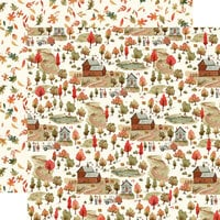 Carta Bella Paper - Hello Autumn Collection - 12 x 12 Double Sided Paper - Apple Farm