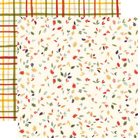 Carta Bella Paper - Hello Autumn Collection - 12 x 12 Double Sided Paper - Scattered Leaves