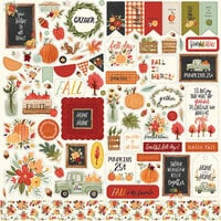Carta Bella Paper - Hello Autumn Collection - 12 x 12 Cardstock Stickers - Elements