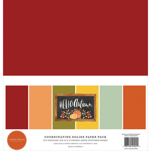 Carta Bella Paper - Hello Autumn Collection - 12 x 12 Paper Pack - Solids