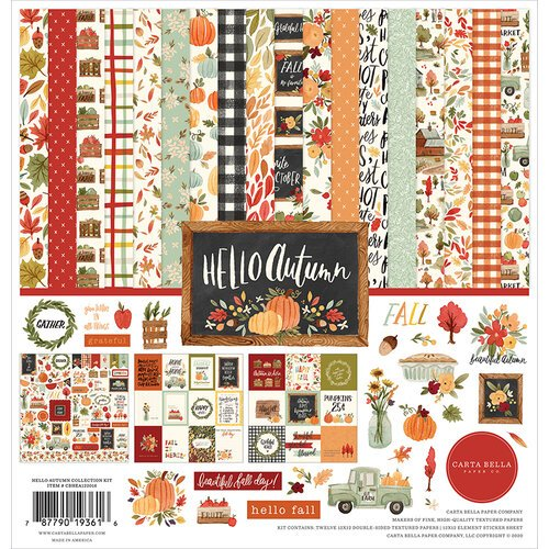 Carta Bella Paper - Hello Autumn Collection - 12 x 12 Collection Kit