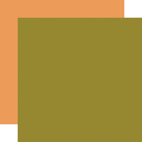 Carta Bella Paper - Hello Autumn Collection - 12 x 12 Double Sided Paper - Green
