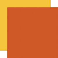 Carta Bella Paper - Hello Autumn Collection - 12 x 12 Double Sided Paper - Orange