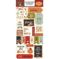 Carta Bella Paper - Hello Autumn Collection - Chipboard Stickers - Phrases
