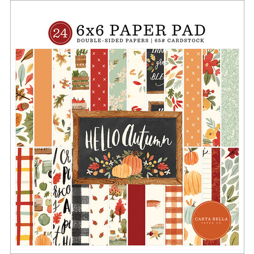Carta Bella Paper - Hello Autumn Collection - 6 x 6 Paper Pad