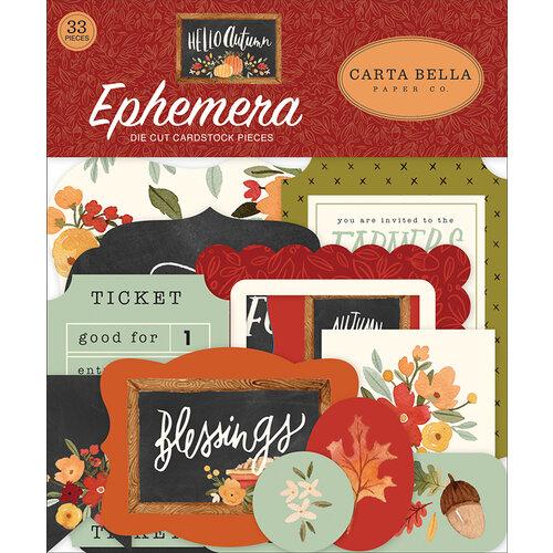 Carta Bella Paper - Hello Autumn Collection - Ephemera