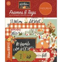Carta Bella Paper - Hello Autumn Collection - Ephemera - Frames and Tags