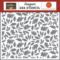 Carta Bella Paper - Hello Autumn Collection - 6 x 6 Stencil - Harvest Leaves