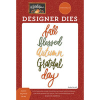 Carta Bella Paper - Hello Autumn Collection - Designer Dies - Autumn Day Word