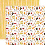 Carta Bella Paper - Hello Fall Collection - 12 x 12 Double Sided Paper - Falling Leaves