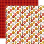 Carta Bella Paper - Hello Fall Collection - 12 x 12 Double Sided Paper - Fall Forest