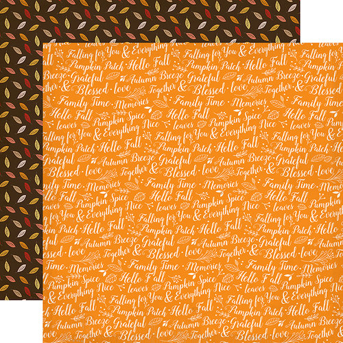 Carta Bella Paper - Hello Fall Collection - 12 x 12 Double Sided Paper - Family Time