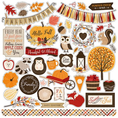 Carta Bella Paper - Hello Fall Collection - 12 x 12 Cardstock Stickers
