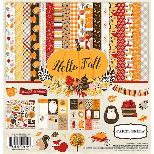 Carta Bella Paper - Hello Fall Collection - 12 x 12 Collection Kit
