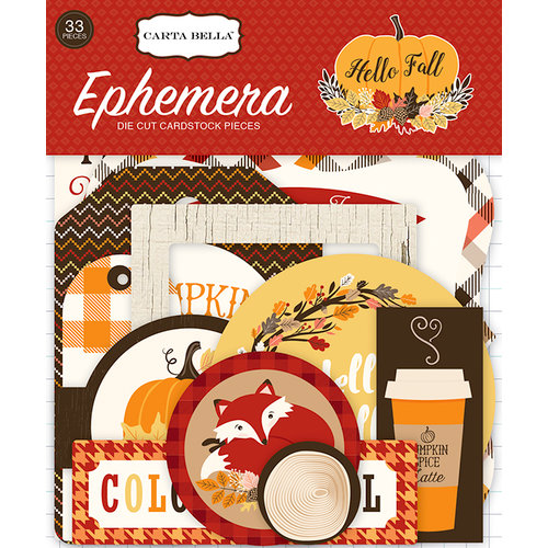 Carta Bella Paper - Hello Fall Collection - Ephemera