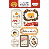 Carta Bella Paper - Hello Fall Collection - Layered Cardstock Stickers