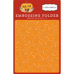 Carta Bella Paper - Hello Fall Collection - Embossing Folder - Pumpkin Patch