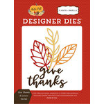 Carta Bella Paper - Hello Fall Collection - Designer Dies - Give Thanks and Leaves