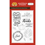 Carta Bella Paper - Hello Fall Collection - Clear Acrylic Stamps - Give Thanks