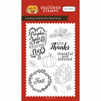Carta Bella Paper - Hello Fall Collection - Clear Photopolymer Stamps - Give Thanks