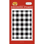 Carta Bella Paper - Hello Fall Collection - Clear Acrylic Stamps - Buffalo Plaid