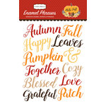 Carta Bella Paper - Hello Fall Collection - Enamel Words and Phrases