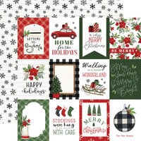 Carta Bella Paper - Home For Christmas Collection - 12 x 12 Double Sided Paper - 4 x 3 Journaling Cards