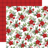 Carta Bella Paper - Home For Christmas Collection - 12 x 12 Double Sided Paper - Fa La La Floral