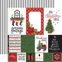 Carta Bella Paper - Home For Christmas Collection - 12 x 12 Double Sided Paper - Multi Journaling Cards