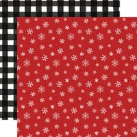Carta Bella Paper - Home For Christmas Collection - 12 x 12 Double Sided Paper - Let It Snow