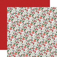 Carta Bella Paper - Home For Christmas Collection - 12 x 12 Double Sided Paper - Christmas Farm Floral