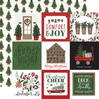 Carta Bella Paper - Home For Christmas Collection - 12 x 12 Double Sided Paper - 4 x 4 Journaling Cards