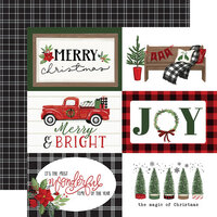 Carta Bella Paper - Home For Christmas Collection - 12 x 12 Double Sided Paper - 6 x 4 Journaling Cards