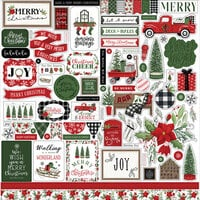 Carta Bella Paper - Home For Christmas Collection - 12 x 12 Cardstock Stickers - Elements