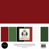 Carta Bella Paper - Home For Christmas Collection - 12 x 12 Paper Pack - Solids