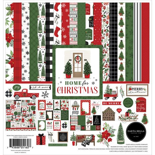 Carta Bella Paper - Home For Christmas Collection - 12 x 12 Collection Kit