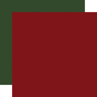 Carta Bella Paper - Home For Christmas Collection - 12 x 12 Double Sided Paper - Dark Red