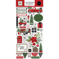 Carta Bella Paper - Home For Christmas Collection - Chipboard Embellishments - Accents