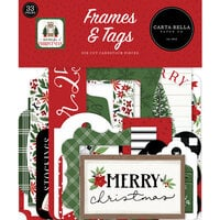 Carta Bella Paper - Home For Christmas Collection - Ephemera - Frames and Tags