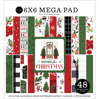 Carta Bella Paper - Home For Christmas Collection - 6 x 6 Mega Paper Pad