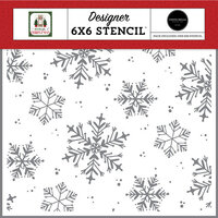 Carta Bella Paper - Home For Christmas Collection - 6 x 6 Stencils - White Christmas