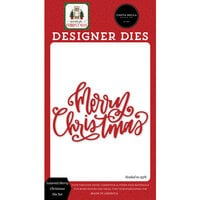 Carta Bella Paper - Home For Christmas Collection - Designer Dies - Lettered Merry Christmas